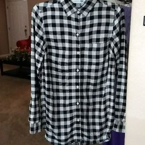 Old Navy Plaid Blouse/Tunic